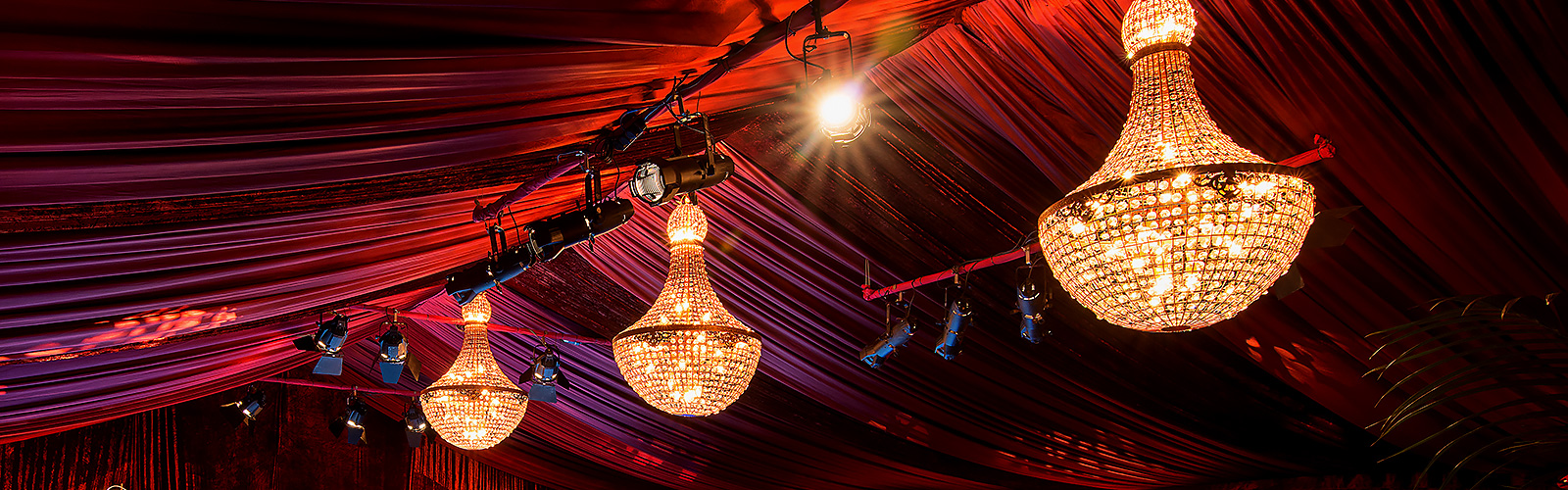 Crescent moon party decoration and prop hire for weddings and events chandelier hire specifications aloadofball Image collections