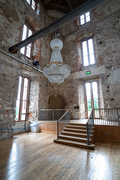 Empire Empire Chandelier amazing full portrait view with lights off inside Lulworth Castle