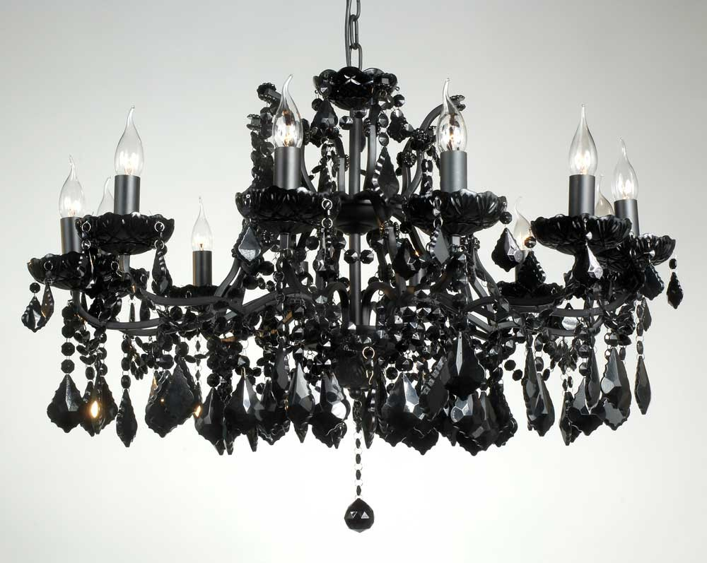 Marie Therese Black Chandelier 62cm by 84cm