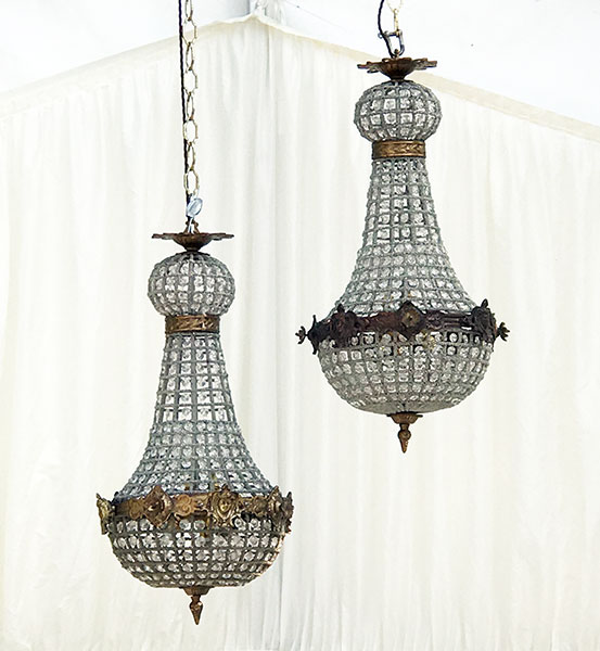 Empire Chandelier 65cm by 30cm 4 light 7kg white marquee background