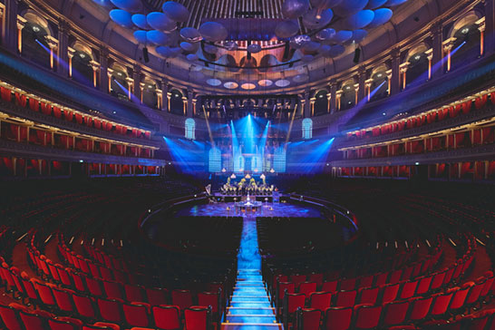Royal Albert Hall with private dining and Marie Therese chandaliers