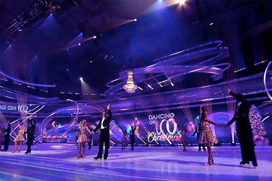 Dancing On Ice - Chandelier hire from Crescent Moon
