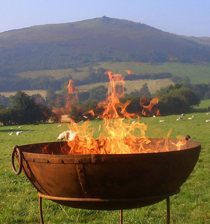 Fire pits for hire in Somerset