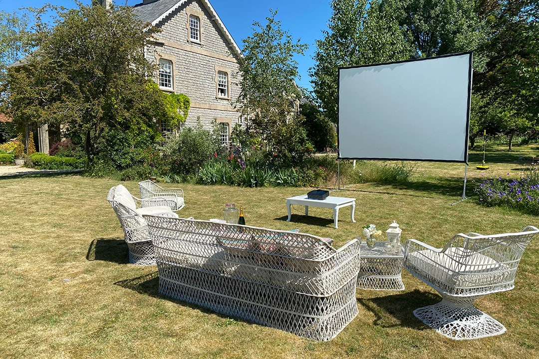 Garden Cinema for a private viewing in your home