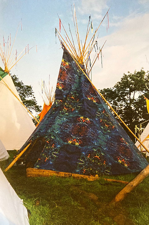 Printed Tipi for garden parties